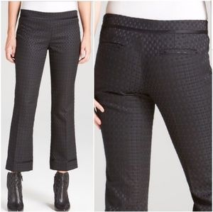 Tory Burch Madison Black Woven Crop Pants